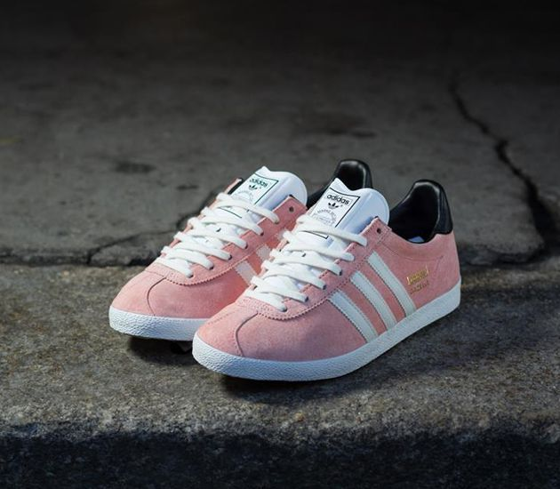 Trendy Womens Sneakers 2017/ 2018 : adidas Originals Gazelle St-Fade Rose / Black White