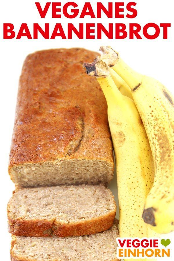 Saftiges veganes Bananenbrot | einfach #veganerezepte