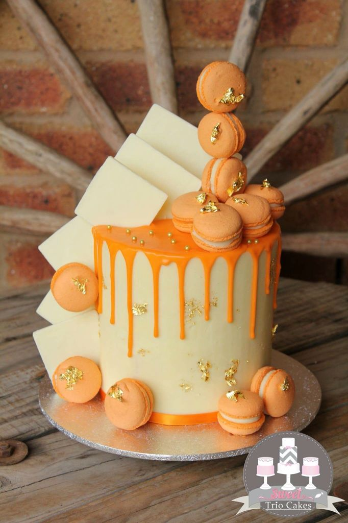 Terrific Orange Drip Cake With Images Orange Cake Decoration Orange Funny Birthday Cards Online Aeocydamsfinfo