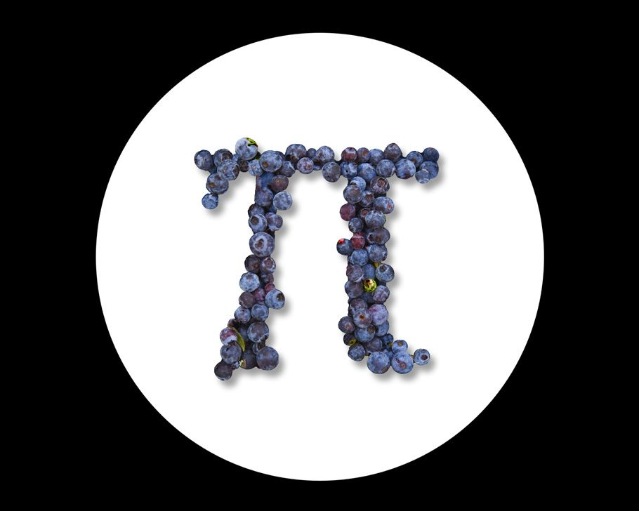 Pi The Symbol For Pi 314 And A Blueberry Pi At That Pi