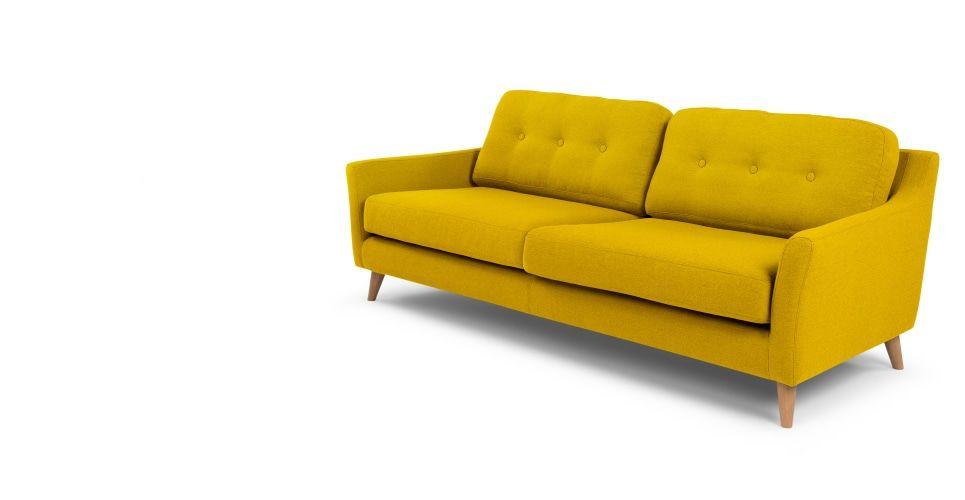 Made Sofa Gelb Yellow Sofa Sofa 3 Seater Sofa