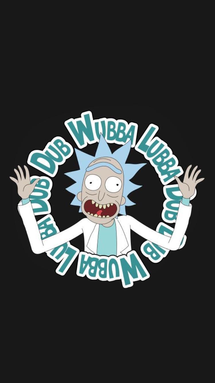 Rick and morty wallpaper wubba lubba dub