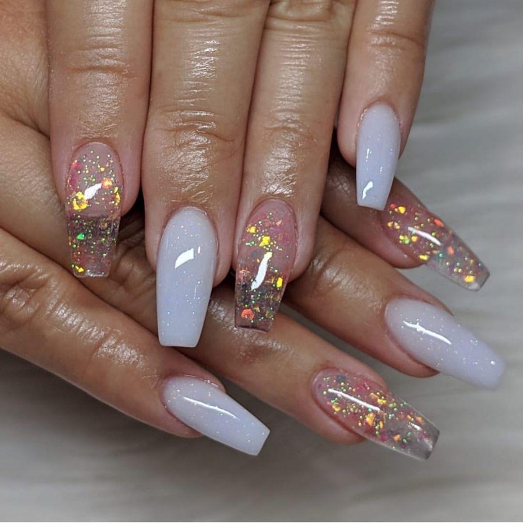 Glitter Nails Best Acrylic Nails Diy Acrylic Nails Clear Acrylic Nails