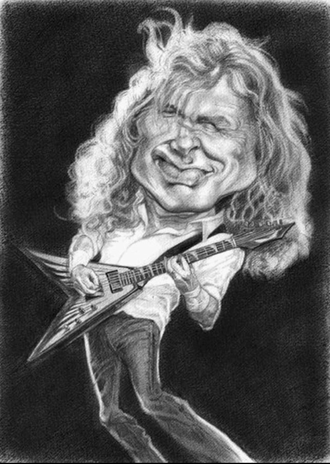 Dave Mustaine Megadeath Printed Canvas Picture Multiple Sizes Heavy Metal Guitar