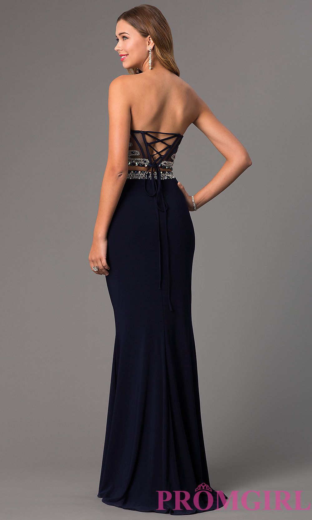 c4c65df31af2c Image of Faviana Two Piece Gown for Prom S7524 Style: FA-S7524 Detail Image  3