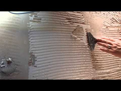 How To Remove Tile Adhesive From Plasterboard Walls Youtube