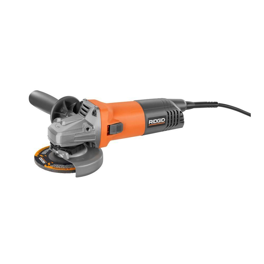 Ridgid 8 Amp Corded 4 1 2 In Angle Grinder R1006 The Home Depot Angle Grinder Tool Design The Home Depot Mexico