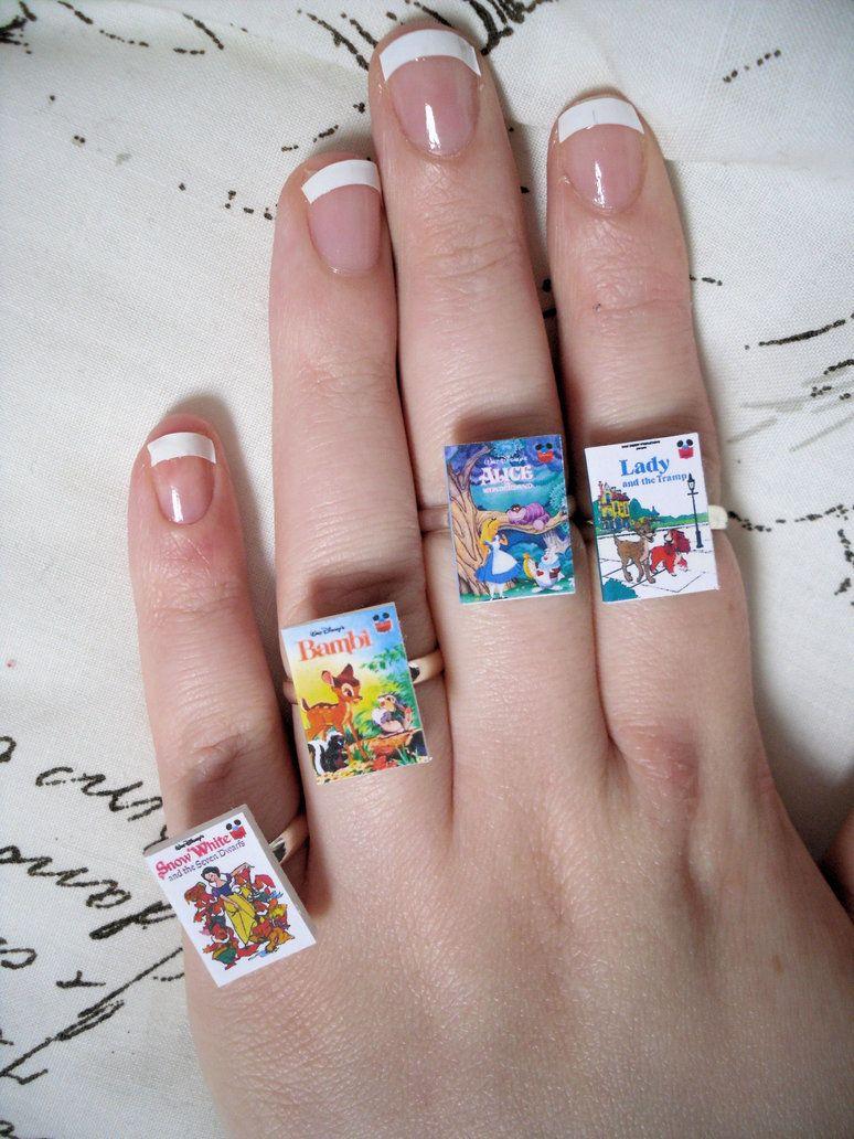 Disney book rings   Disney!   Pinterest   Ring