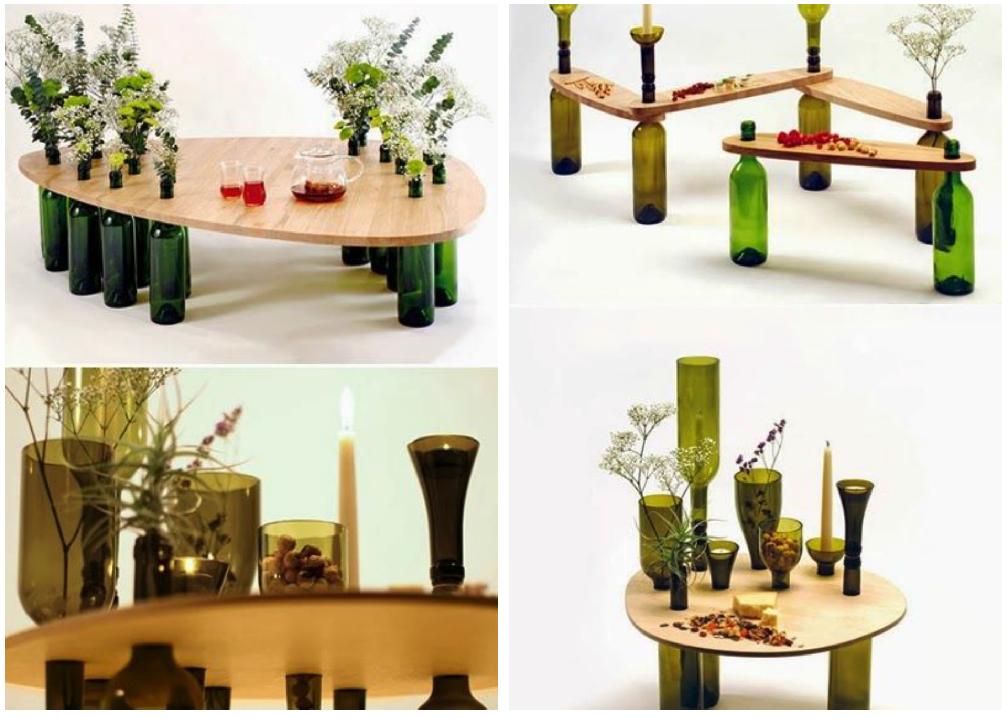 Ideas para reciclar botellas de vidrio madera dise o for Ideas para reciclar botellas de vidrio