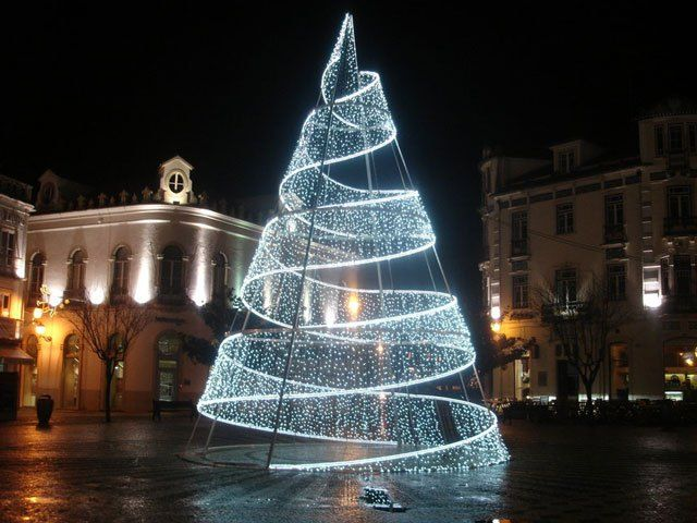 Unique Outdoor Big LED Spiral Christmas Trees