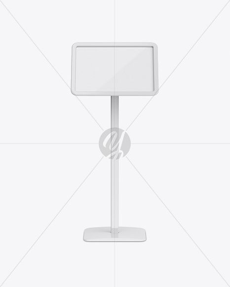 Glossy Frame Poster Stand Mockup - Front View