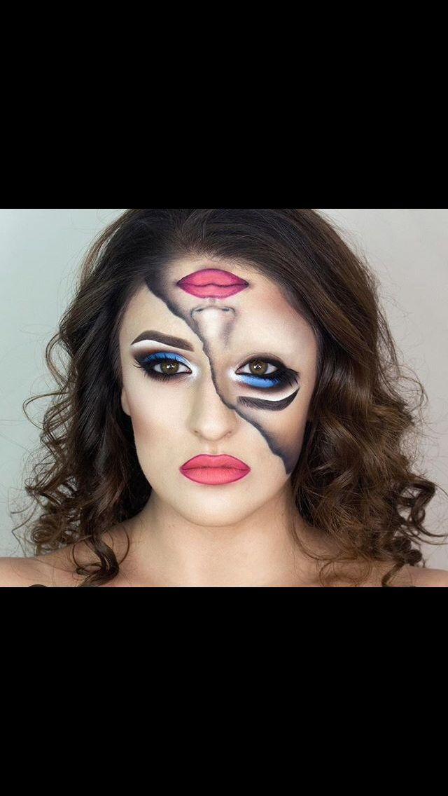 Split Face Makeup Makeup Halloween Make Up Halloween Makeup