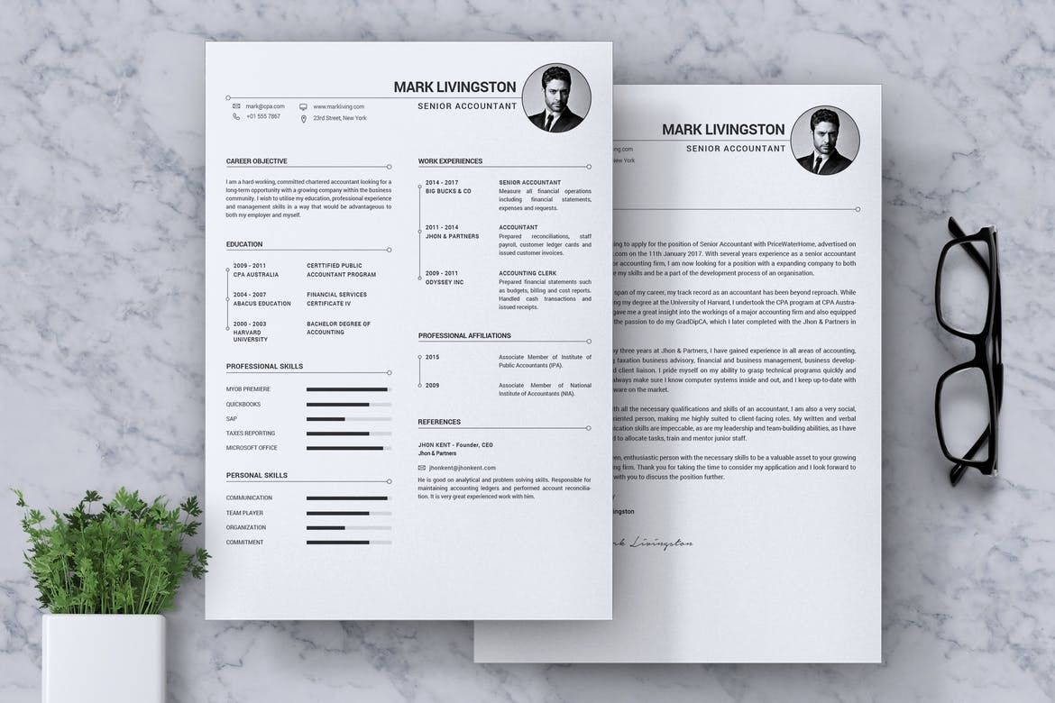 Accounting Accountant Cv Resume By Rahardicreative On Envato Elements Accountant Cv Resume Template Examples Resume