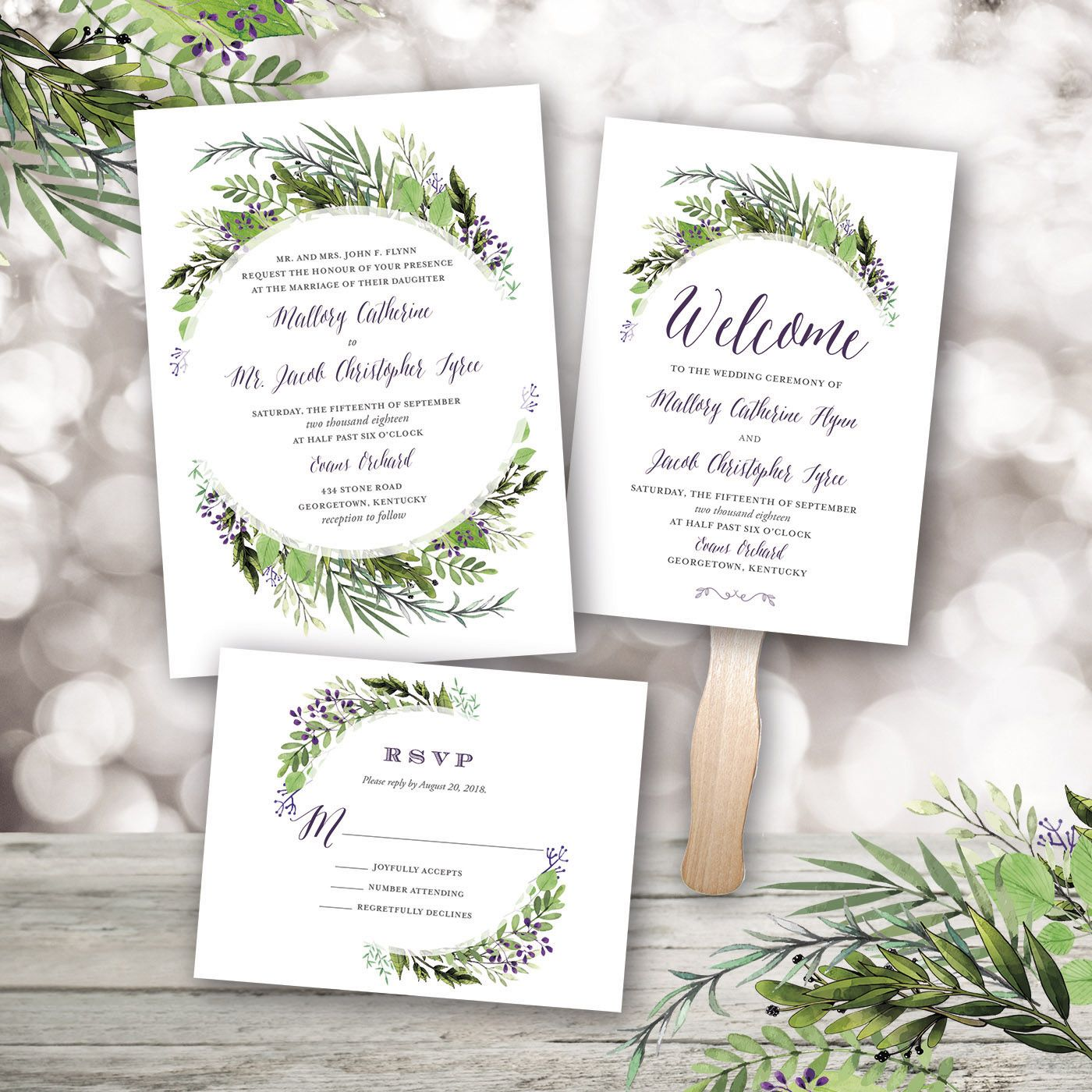 Wedding Package Design Botanical