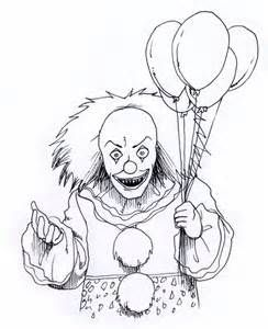Pennywise The Clown Coloring Pages Bing Images Scary