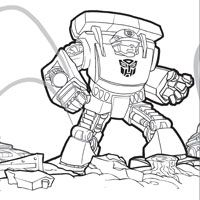 PLAYSKOOL Heroes Transformers Rescue Bots Coloring Page Chase
