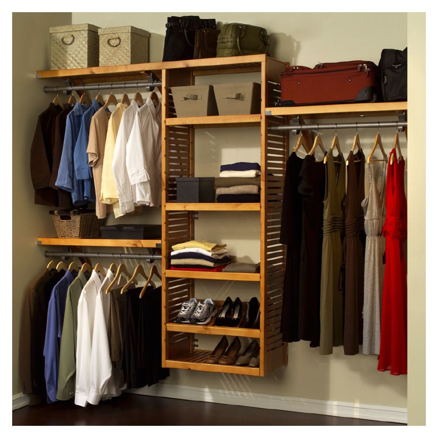 Delicieux Closet Organization Systems | Wood Closet Organizer System Deluxe Maple  Item # Jlh 525