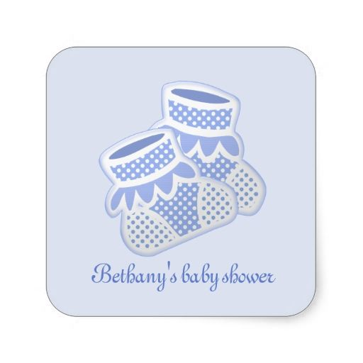 blue baby socks stickers