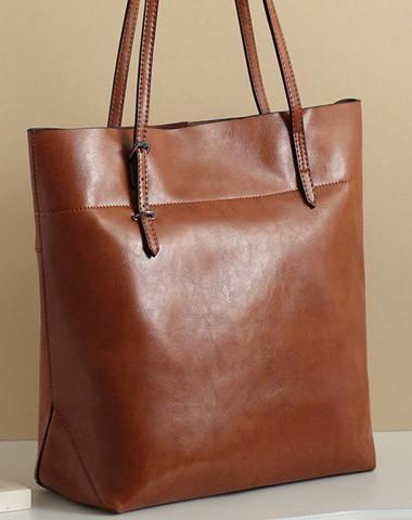 6d6fbe95d83d3 Handmade Leather tote bag shoulder bag red brown black for women leather  shopper Shoulder bag