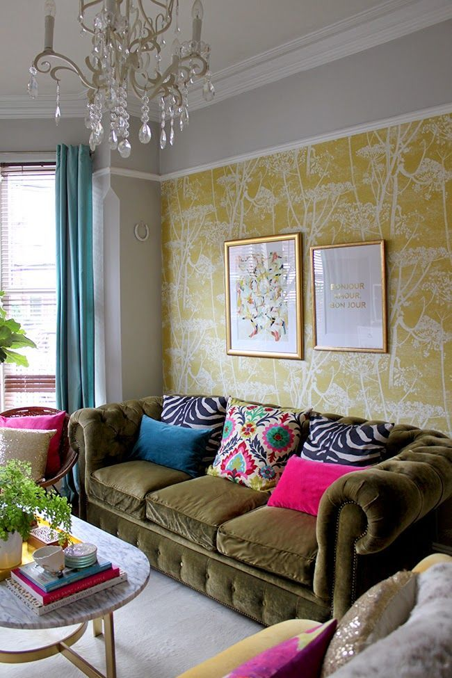 Living Room Color Schemes Olive Green Couch Modern House The Big Blank Wall In My Is Filled Whoop