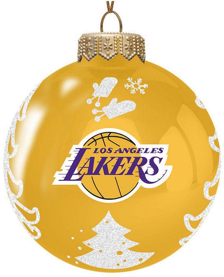 Memory Company Los Angeles Lakers Glass Christmas Tree Ornament - Memory Company Los Angeles Lakers Glass Christmas Tree Ornament