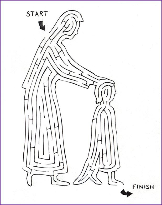 Print Version Of Maze Hannah Gives Her Child To God