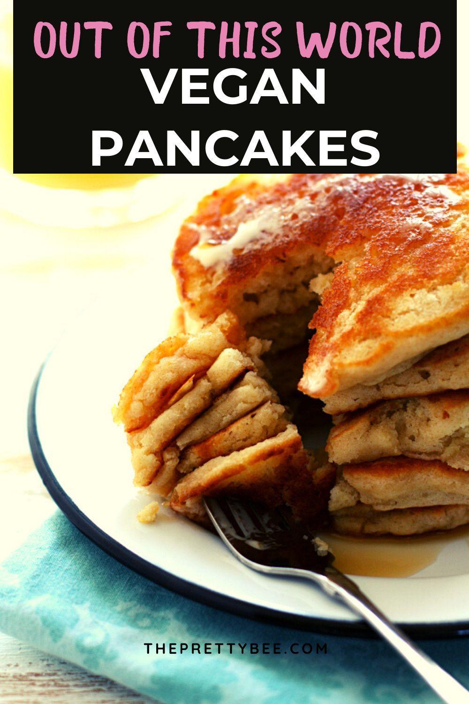 Vegan Pancake Recipe Light Fluffy Recipe Vegan Pancake Recipes Recipes Recipe Without Milk