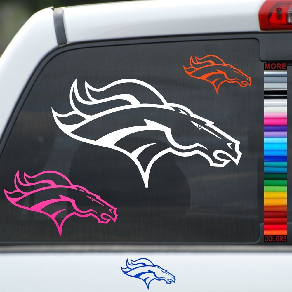 Broncos Horse Head Vinyl Car Window Sticker Wall Decal