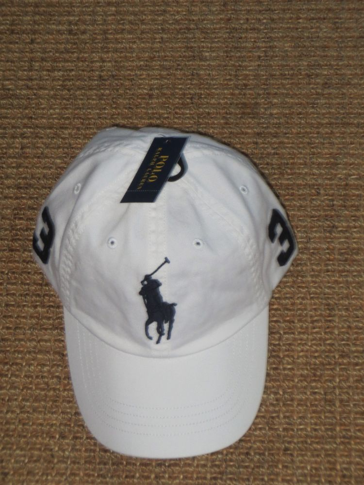 c9c41834f5057 NEW POLO RALPH LAUREN BIG PONY BASEBALL HAT CAP MEN S CHINO HAT WHITE   PoloRalphLauren  BaseballCap