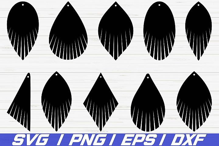 Photo of Fringe Earring SVG/ leather earring jewelry/ laser cut file