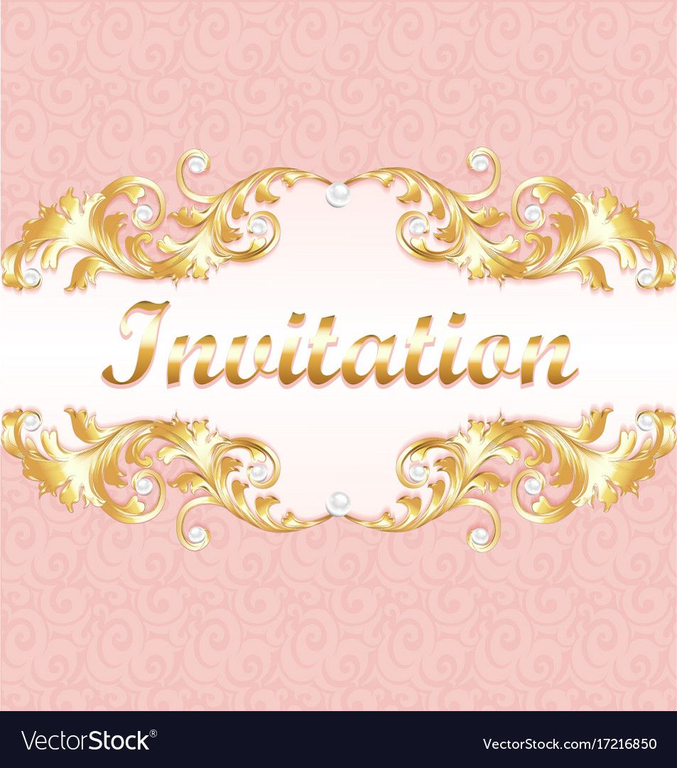 A Wedding Invitation Card For A Wedding With A Vector Image Seni