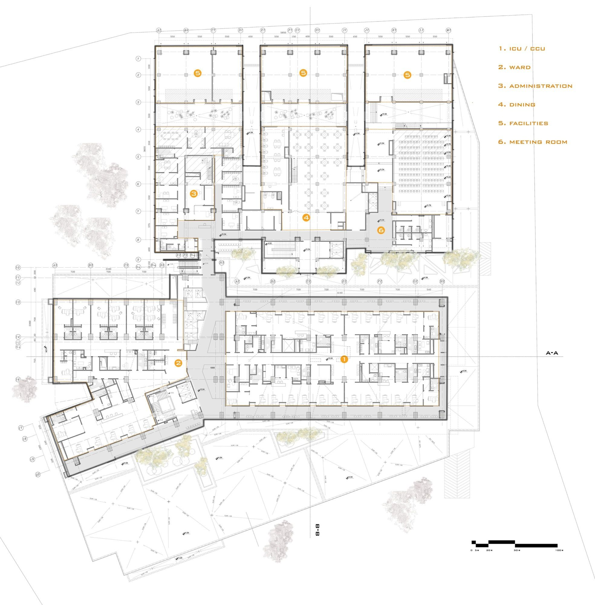 Gallery Of Pars Hospital New Wave Architecture 28 Hospital Plan Pinterest Hospital