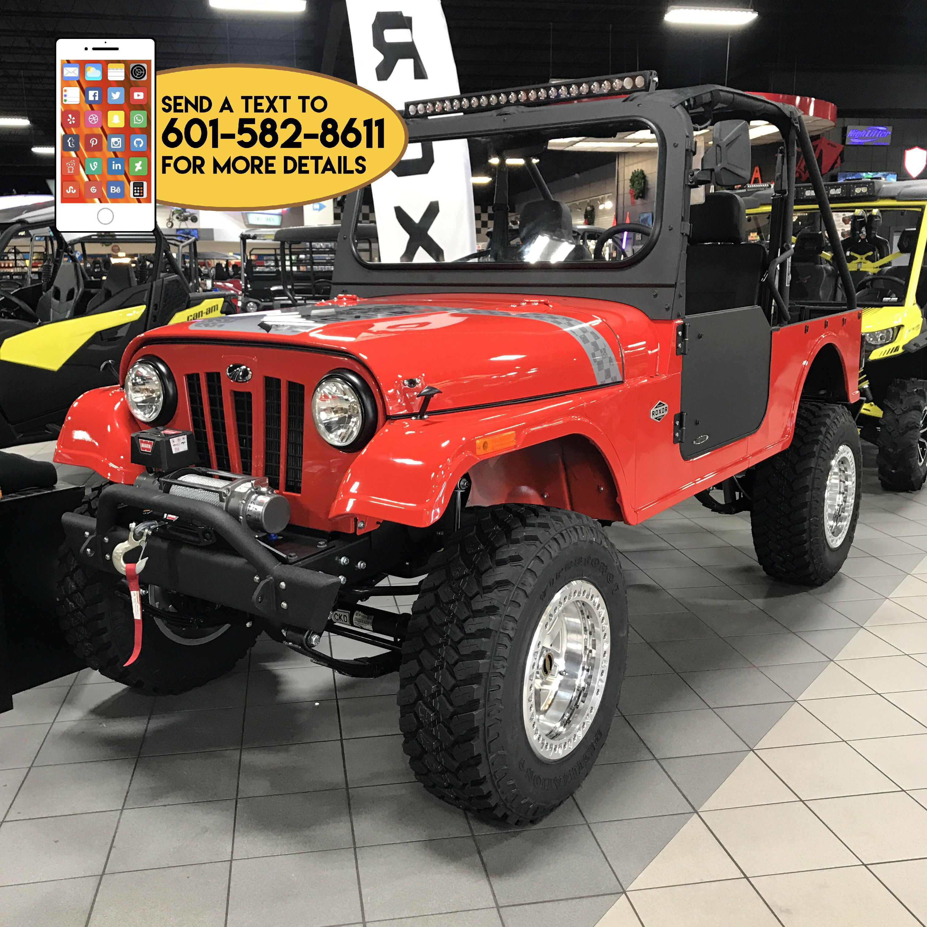 2018 Mahindra Roxor Le With 4 Lift Kit Front Bumper And