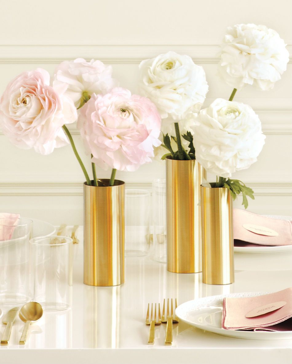 Wrap inexpensive metal sheets around plain glass vases to create ...