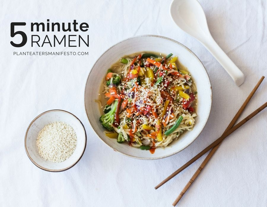 Minute Ramen is a genius shortcut to our beloved Vegan Ramen recipe. A veggie-packed, healthy meal ready in just 5 minutes.