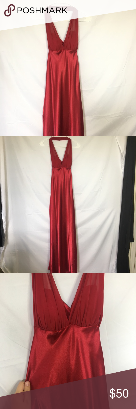 Silkchiffon davids bridal red long dress in my posh picks