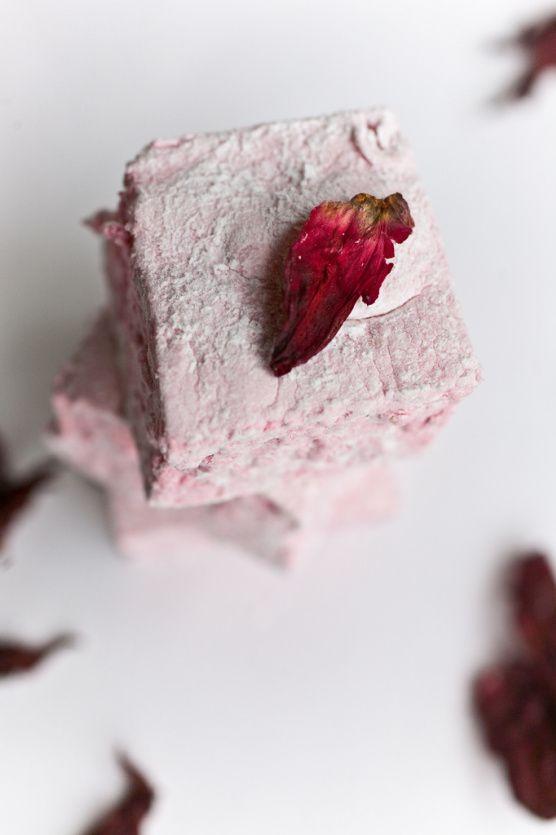 Hibiscus marshmallows.