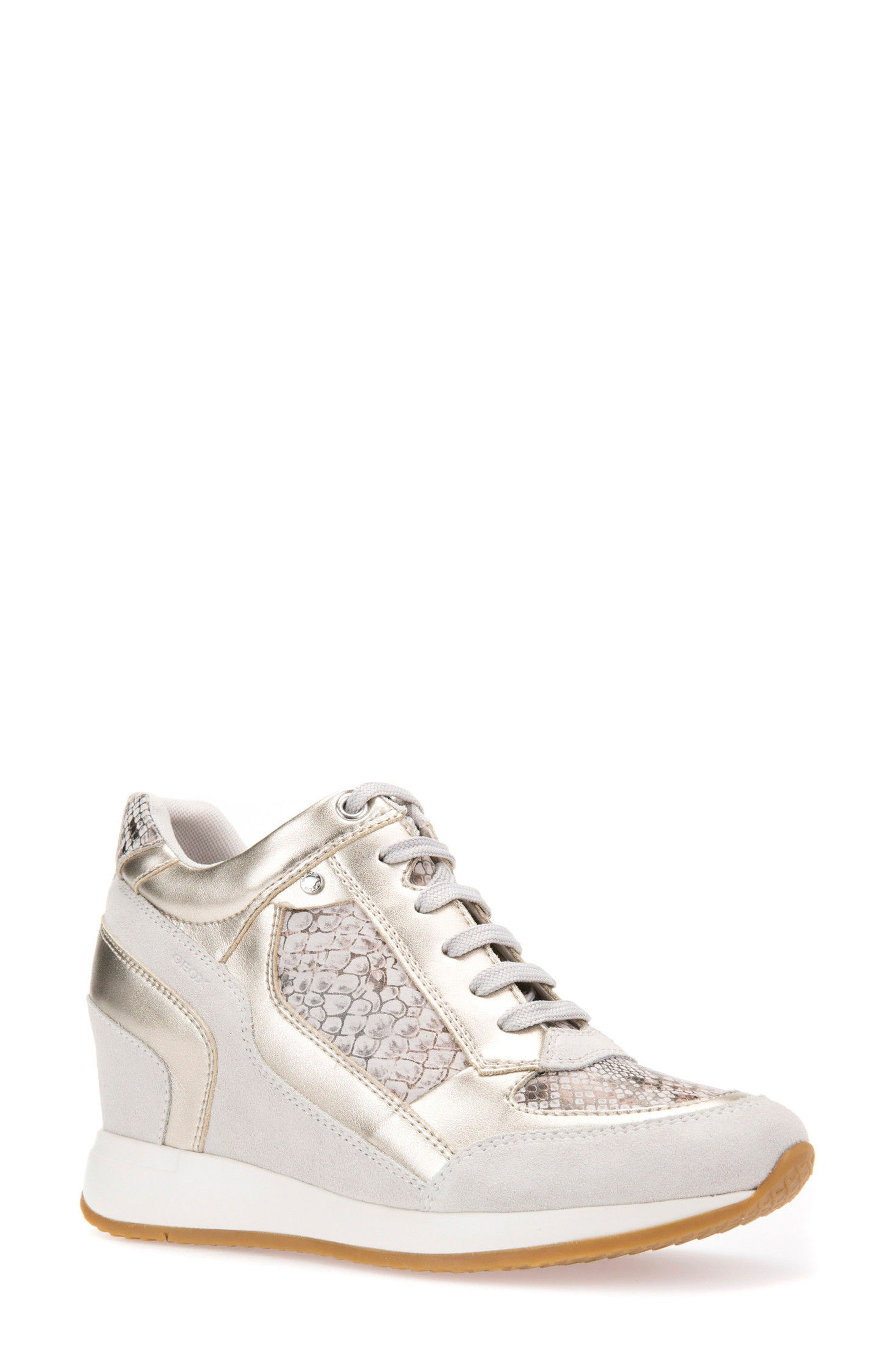 GEOX   Nydame Embellished Wedge Sneaker