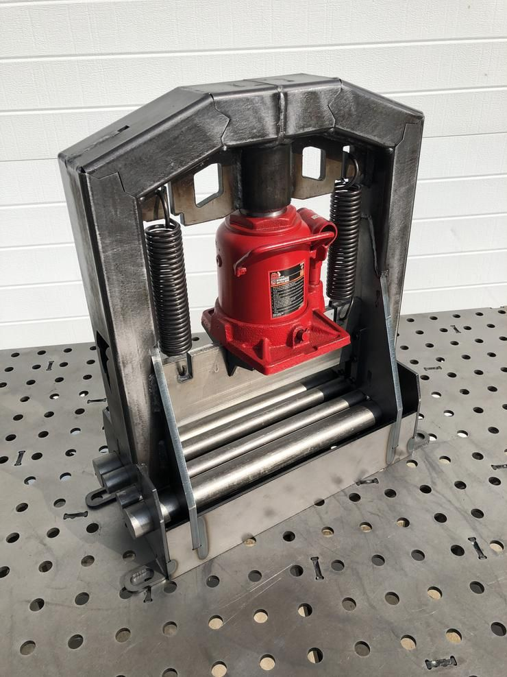 Fabbrake certiflat diy press brake kit welding table