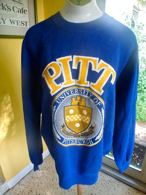 100% top quality classic shades of Pitt University of Pittsburgh 1980s sweatshirt by sideburns ...
