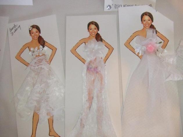 Bridal Shower Game Bride Paper Dolls