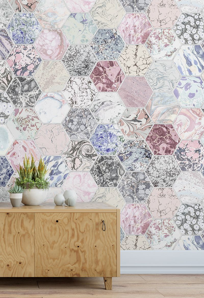 Rosa Terrazzo Tapeten Wandbild Pink Wallpaper Pink Home Decor Dusky Pink Wallpaper