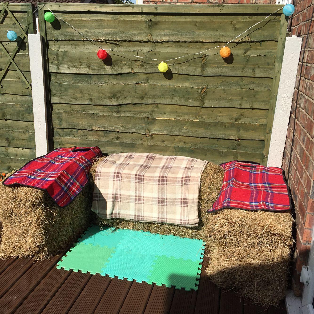 Bales of hay seating...