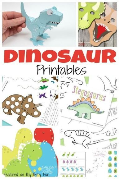 A Ton of Free Dinosaur Printables for Kids | Pinterest | Mi niña ...