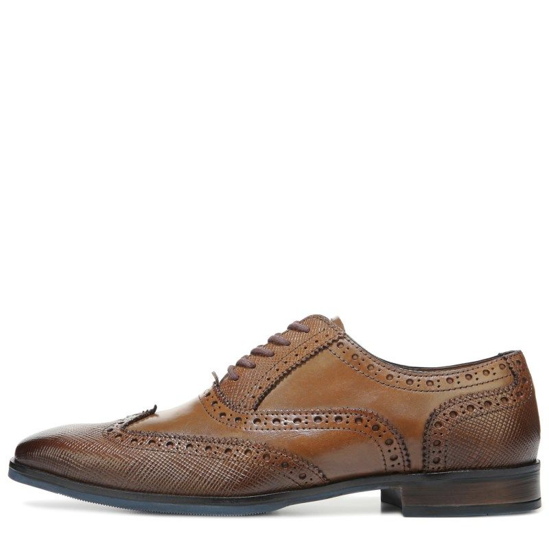 Giorgio Brutini Men's Rigby Wing Tip Oxford Shoes (Tan Leather) - 15.0 M