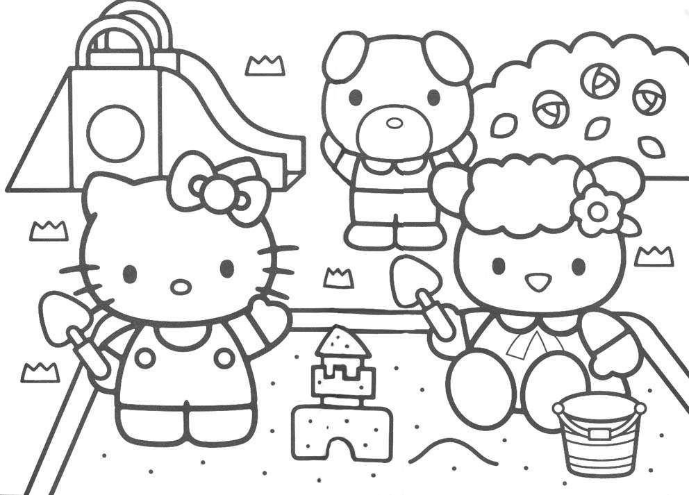 free printable hello kitty coloring pages - Kitty Printable Color Pages