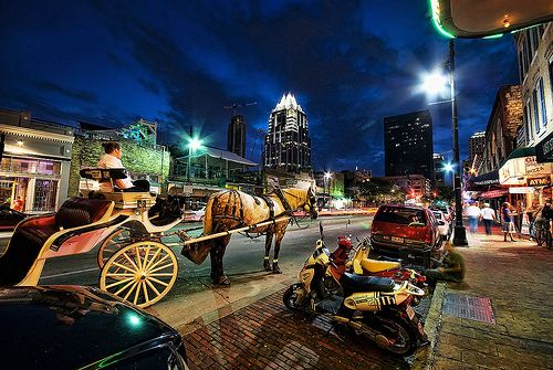 Waiting on the Night; 6th Street Austin TX by Visualist Images, via Flickr