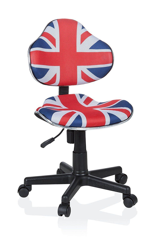 Hjh Office 670932 Chaise Bureau Pour Enfant Kiddy GT 2 Flag Tissu Ergonomique Jeune