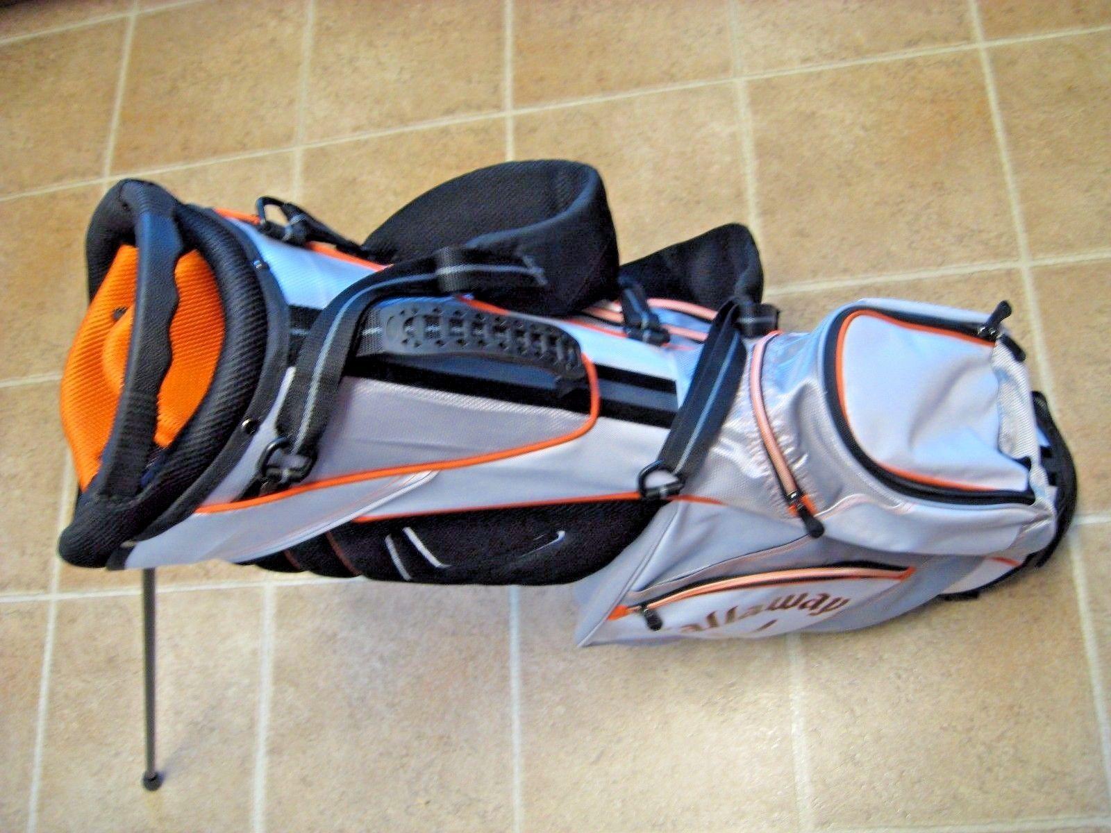 Callaway Lite Golf Bag w/ Stand / 7-way Top / Red / White / Titanium / Top
