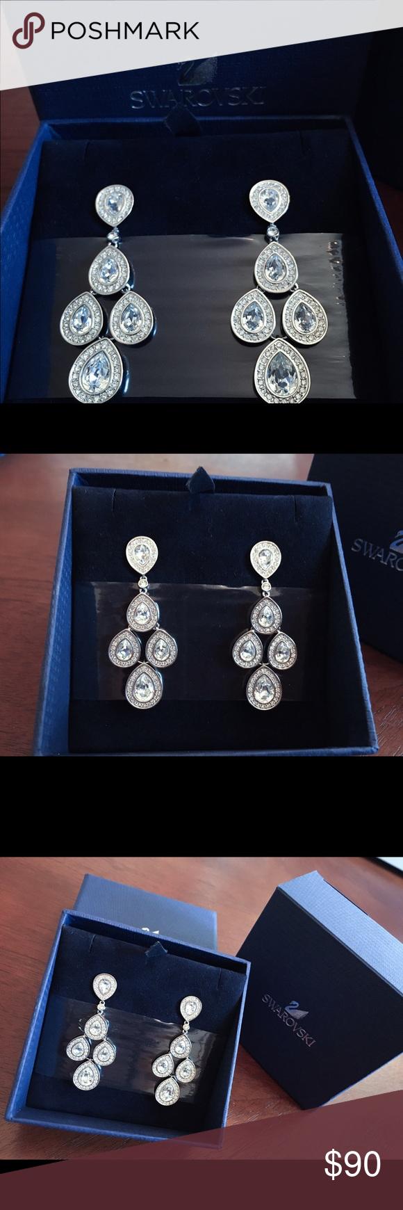 9c78718cc BNIB Swarovski Sensation Pierced Earrings 1156254 Brand new, unworn pair of  genuine Swarovski Sensation pierced